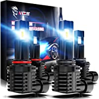 MZS 9005 9006 LED Bulbs Combo,Wireless Instant Plug-in HB3 HB4 Car Conversion Kit Extreme Small Size Fanless Design…