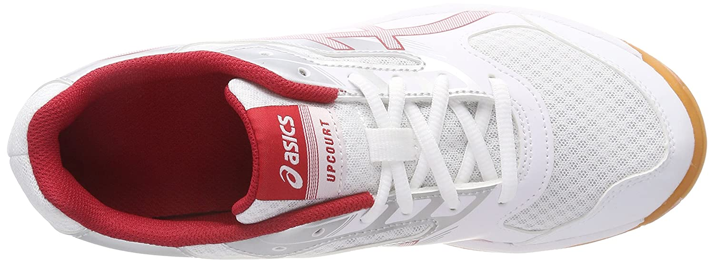 timeless design 2cc3d 82f11 ASICS Upcourt 2, Chaussures de Volleyball Hommes, Blanc (White Prime Red Silver  0123), 39.5 EU  Amazon.fr  Chaussures et Sacs