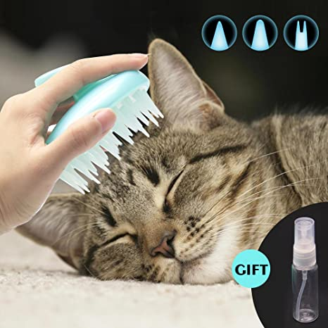 Limpiador de gato CeleMoon, suave, de silicona, lavable, para pelo largo y