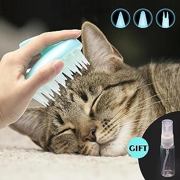 Limpiador de gato CeleMoon, suave, de silicona, lavable, para pelo largo y corto, seguro y sin arañar: Amazon.es: Productos para mascotas