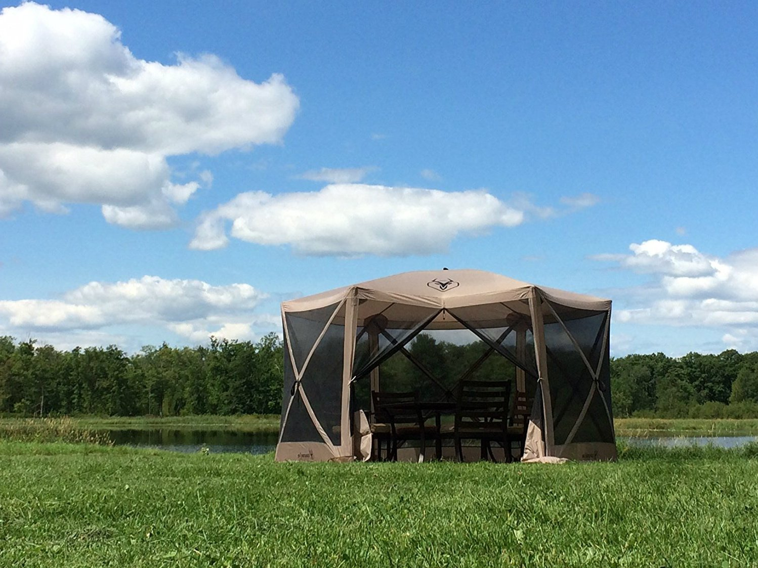 Patio Joy Screened Canopy Tent Portable Gazebo Camping Easy Up Outdoor Gazebos for Picnic Hiking Sun Shelters