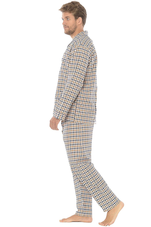 Viyella 100/% Cotone Pigiama Due Pezzi da Uomo a Manica Lunghi e Giacca abbottonata a Quadri Abbigliamento da Notte Classico per Signori El B/úho Nocturno