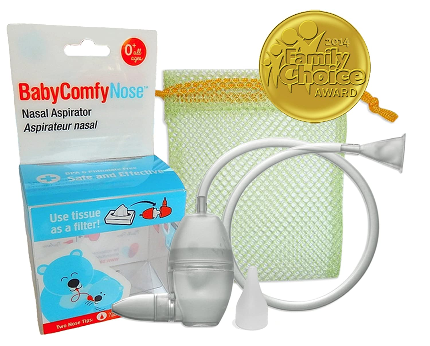 BabyComfy Nasal Aspirator - The Snotsucker - Hygienically & Safely Removes Baby's Nasal Mucus – Clear Baby Comfy Nose BCNC