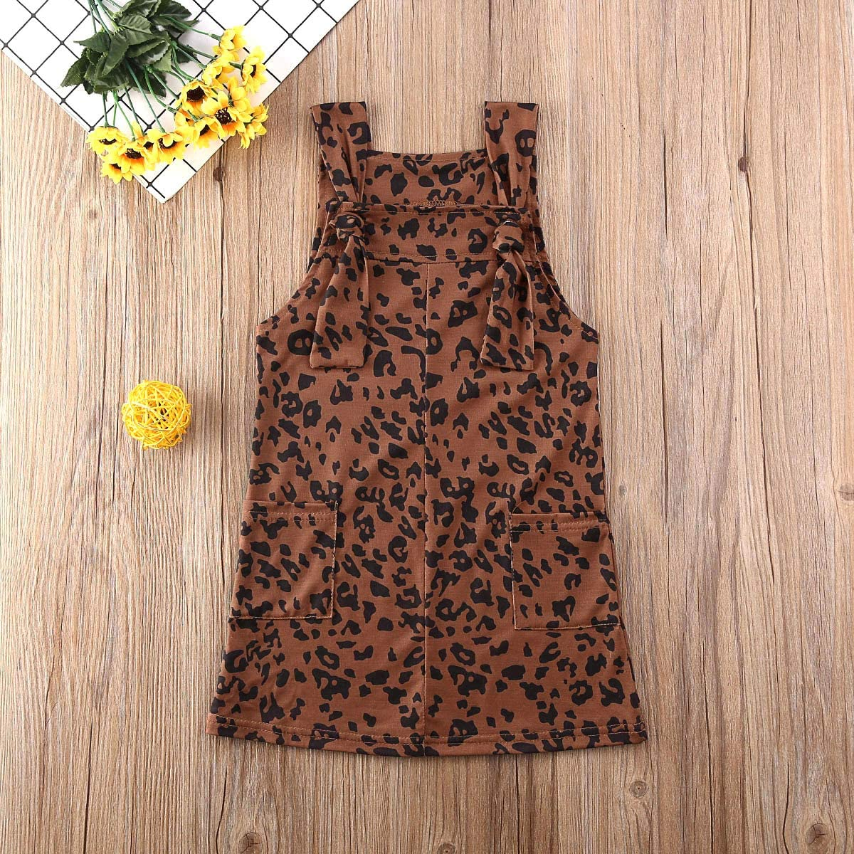 LZCYILANXIULSL Toddler Baby Girl Leopard Print Suspender Dress Bib Overalls Dresses Outfit Summer Clothes