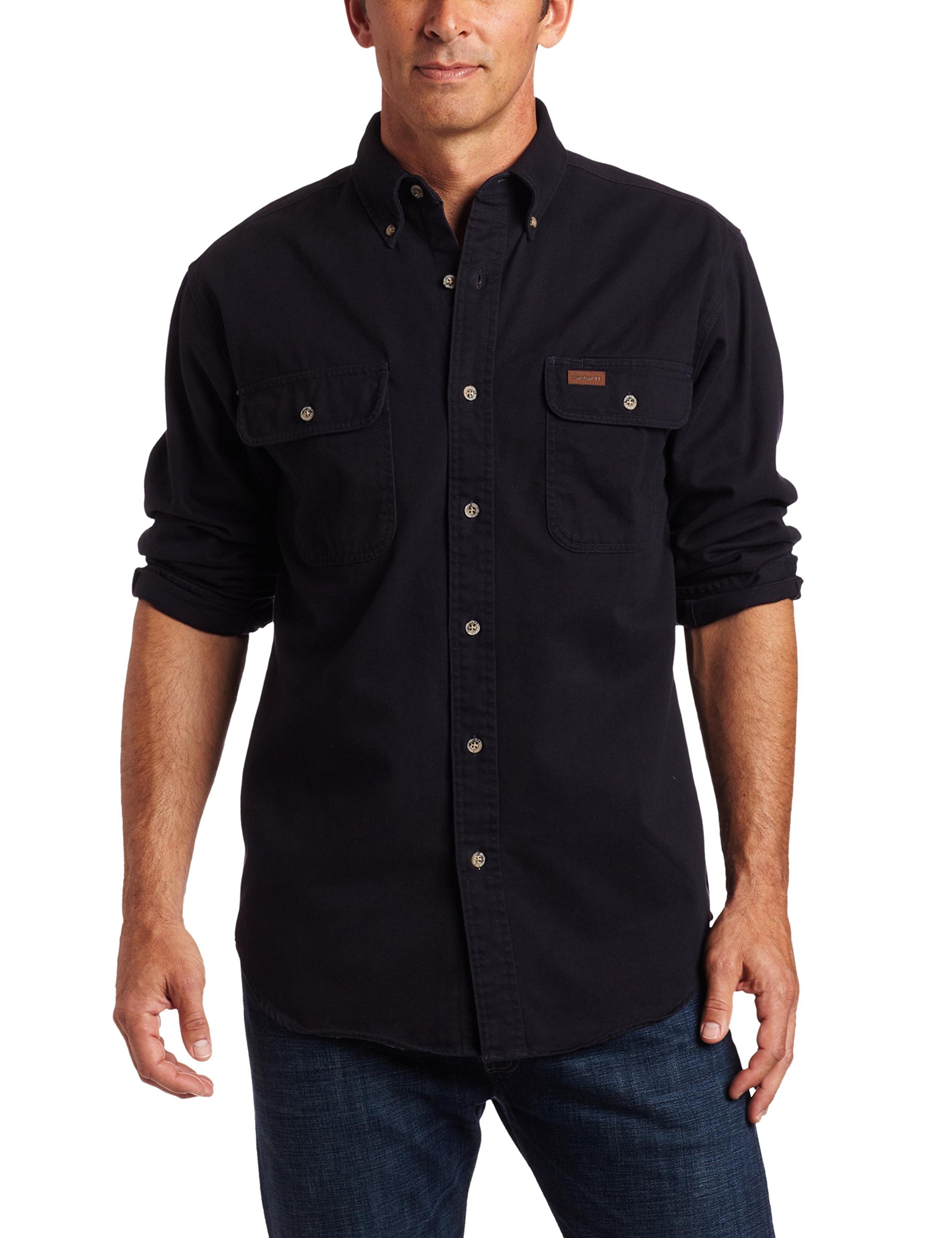 Carhartt Men's Oakman Sandstone Twill Original-Fit Work Shirt