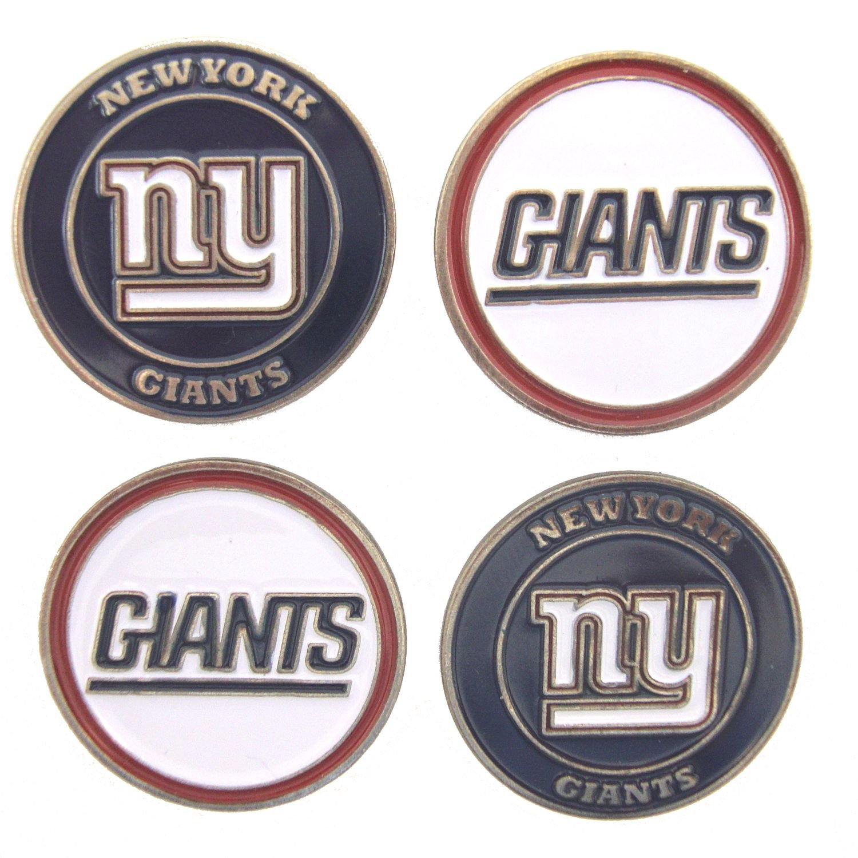72b79e6c0ca Amazon.com   New York Giants Golf Ball Markers (Set of 4)   Sports    Outdoors