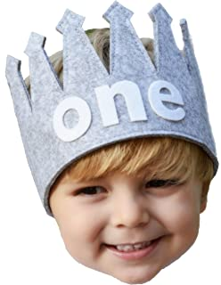 Classy Baby Boy Firstone Birthday Gray And White Party Crown
