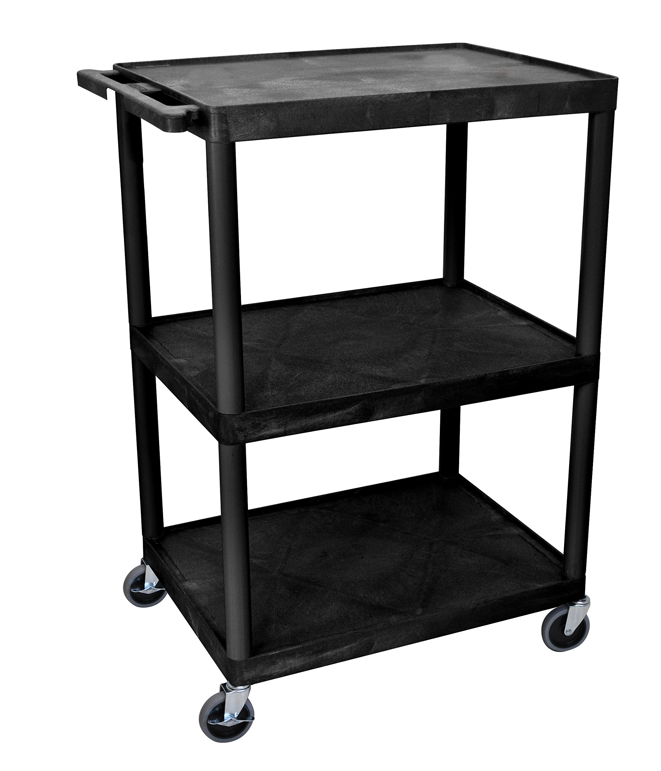 Luxor LP48-B - 48''H A/V Multipurpose Presentation Cart with Three Shelves by Luxor