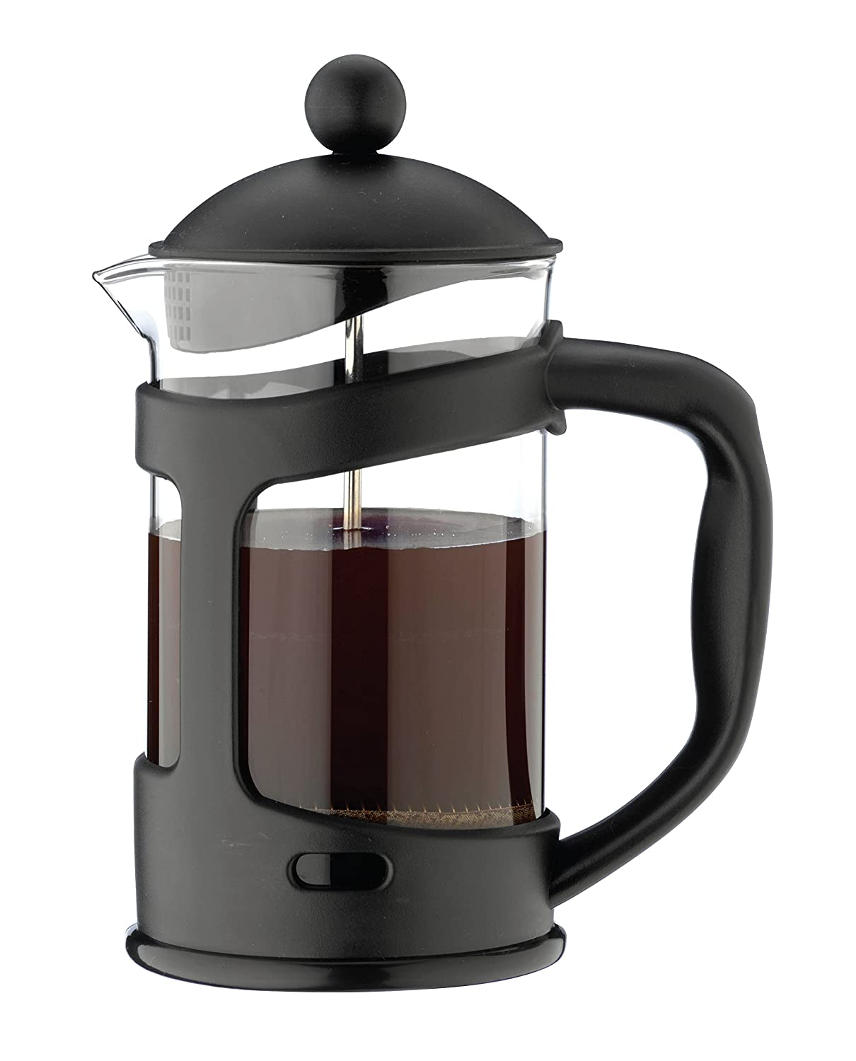 Café Ole 3-Cup Everyday Glass Cafetiere Fresh Coffee Maker, Black, 350 ml Grunwerg CMP-03F