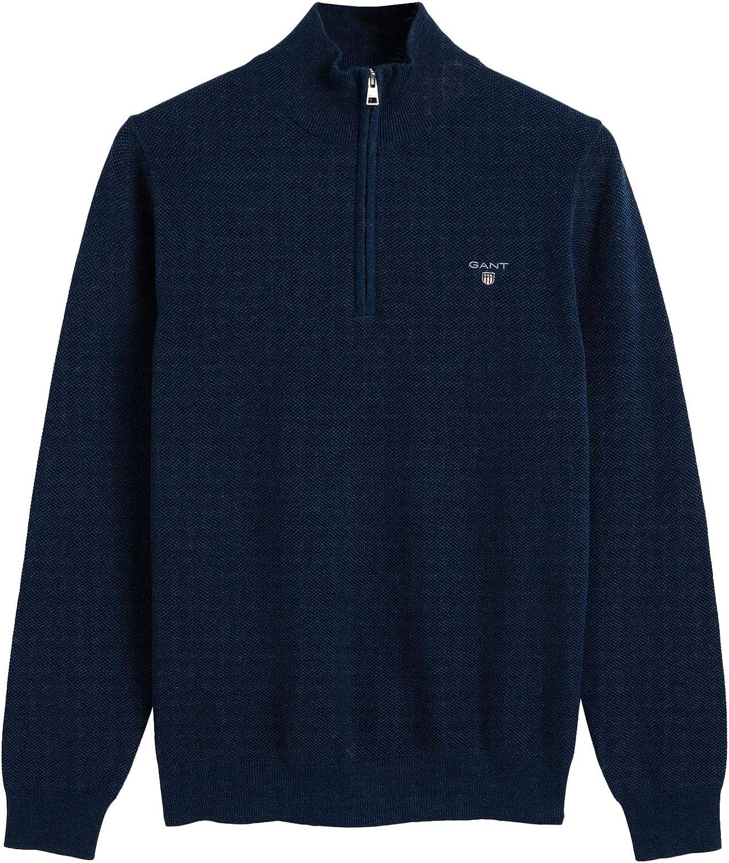 GANT Piqué Halfzip suéter para Hombre