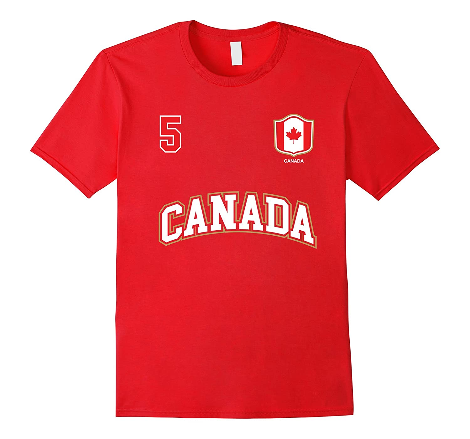 Canada Shirt Number 5 Canadian Team Sports Hockey Soccer-RT
