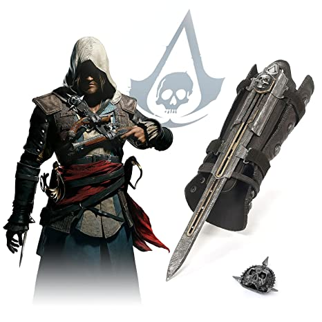 2019 For Ac 4 Black Flag Cosplay Weapons Edward Gauntlet With Hidden Blade Secrete Action Figure Model Toy With Box Novelty & Special Use