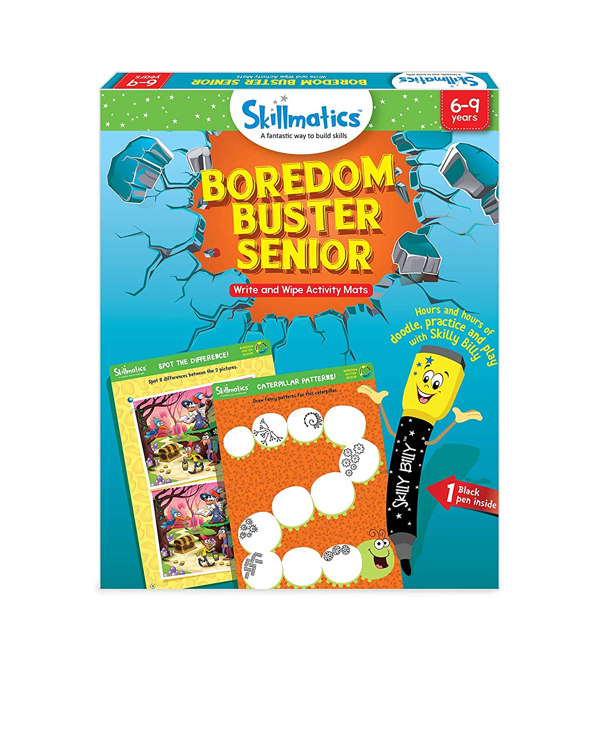 Skillmatics Educational Game: Boredom Buster Senior 6-9 Years| STEM Learning | Creative Fun Activities|Gift Boys Girls Kids Ages 6 to 9 Years Parksons Packaging Limited