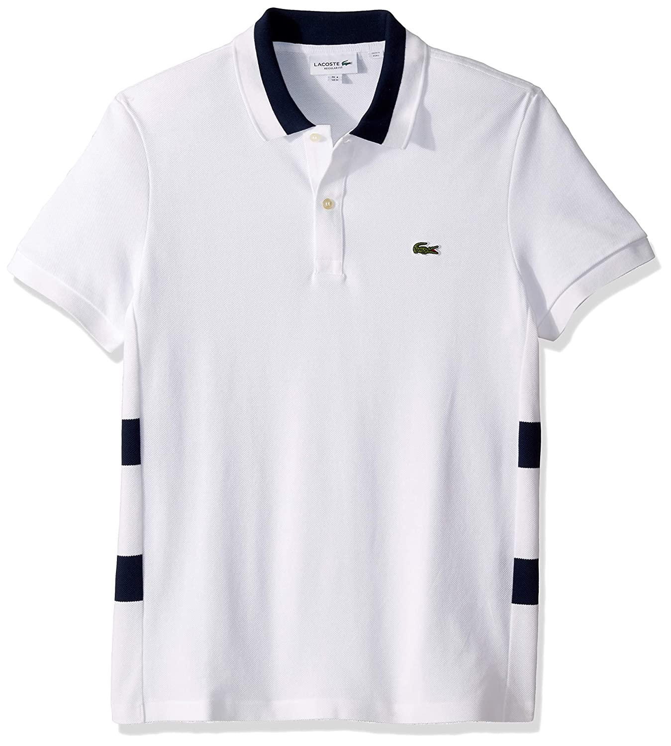 Lacoste Mens S//S 3 Ply Textured Pique Regualr Fit Polo