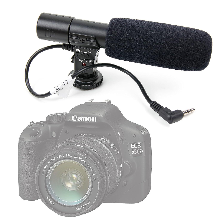 DURAGADGET Cámara réflex estéreo micrófono para la Canon EOS 550d ...