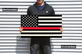 product image for Thin Red Line American Flag, Pallet Wood American Flag, Rustic American Flag, Wooden American Flag, American Flag, Rustic Wood Flag, Firefighter Tribute Gift
