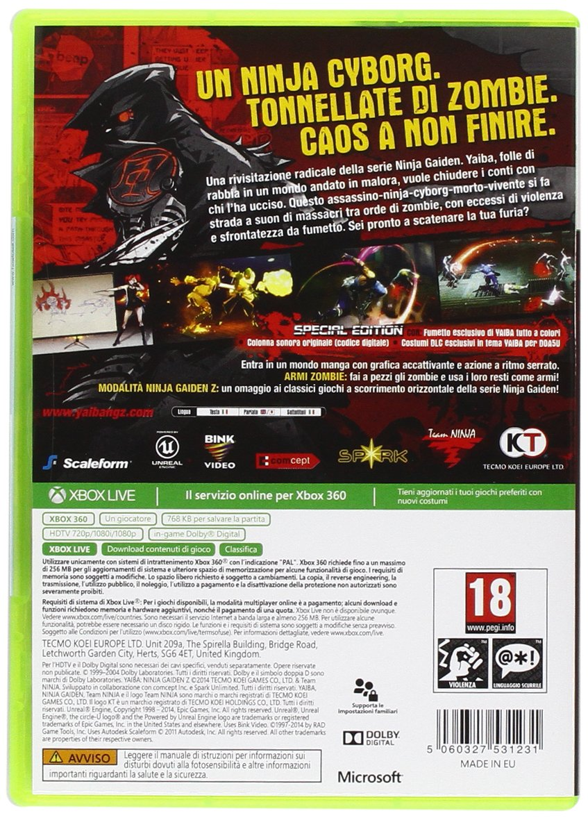 Amazon.com: Xbox 360 - Yaiba Ninja Gaiden Z - Special ...