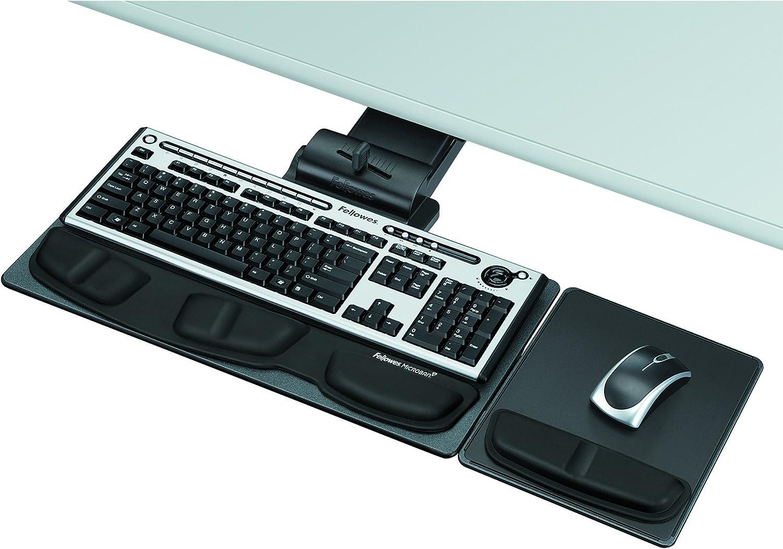 Fellowes 8036101 Professional Executive Adjustable Keyboard Tray, 19w x 10-5/8d, Black