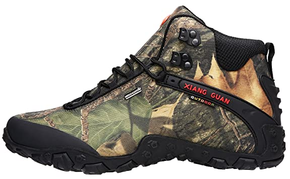 Men's Outdoor High-Top Camouflage Water Resistant Trekking Hiking Boots