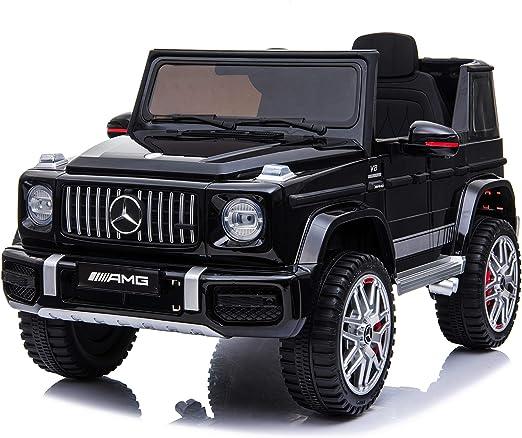 TOYSCAR electronic way to drive Auto Macchina Elettrica per Bambini Fuoristrada Mercedes AMG G63 12V Porte Apribili Full Optional con Telecomando Nera
