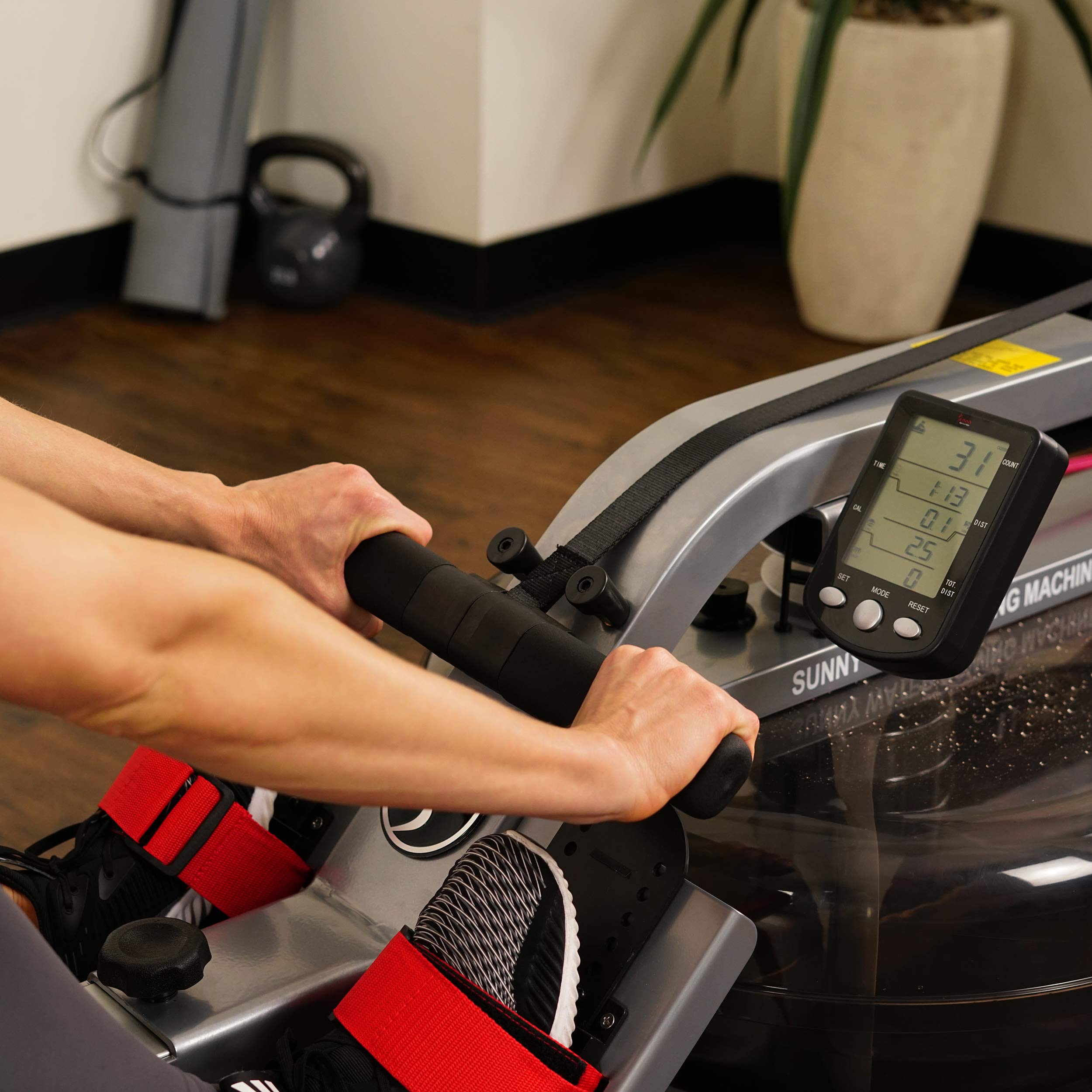 Sunny Health & Fitness Water Rowing Machine Rower w/LCD Monitor - SF-RW5866 by Sunny Health & Fitness (Image #13)