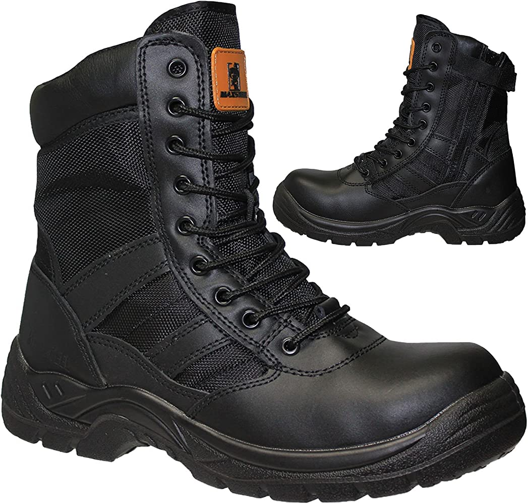 Safety Shoes Boots With Steel Toe Cap
