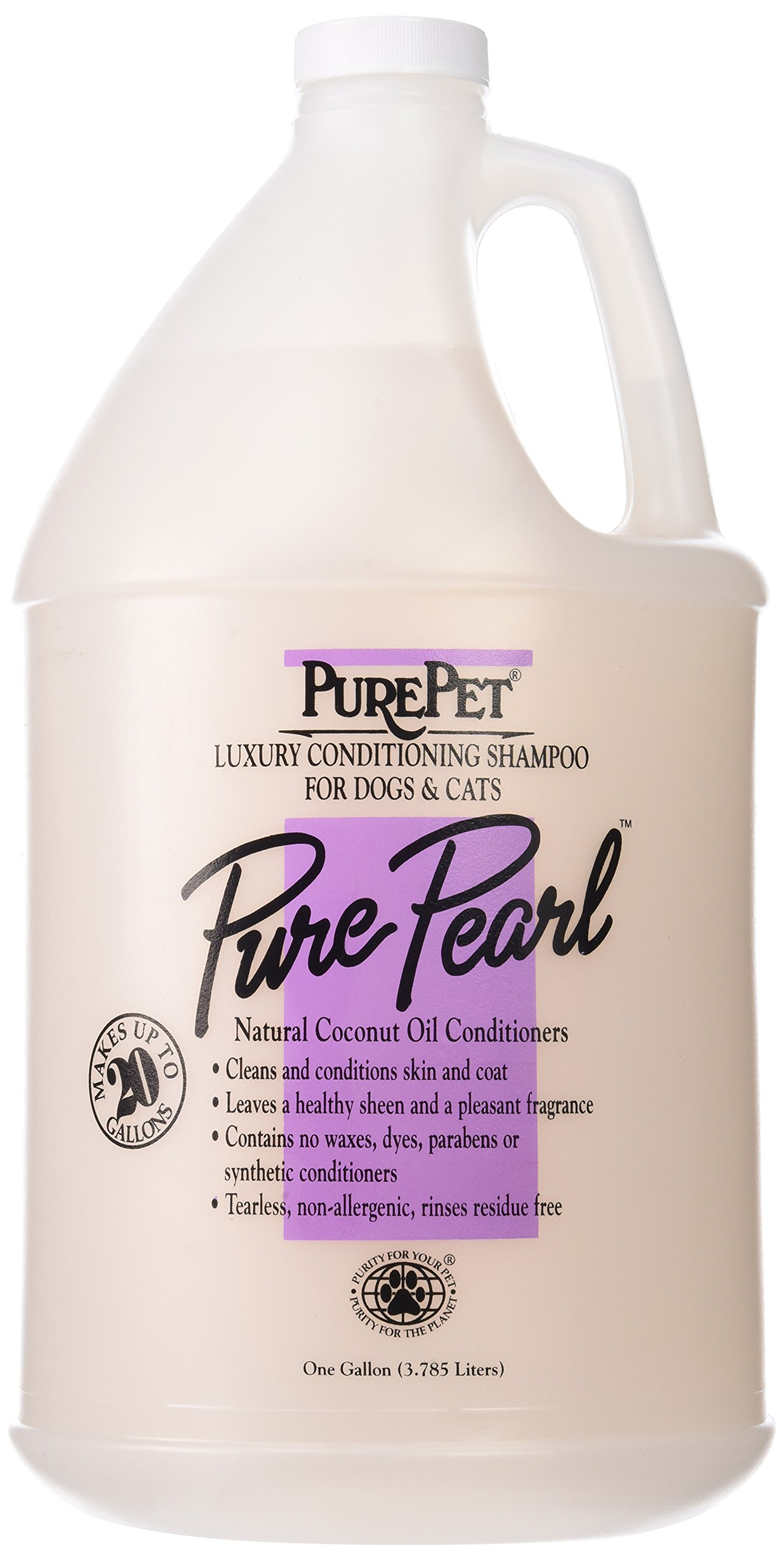 Pure Pet Pure Pearl Dog and Cat Shampoo, 1-Gallon