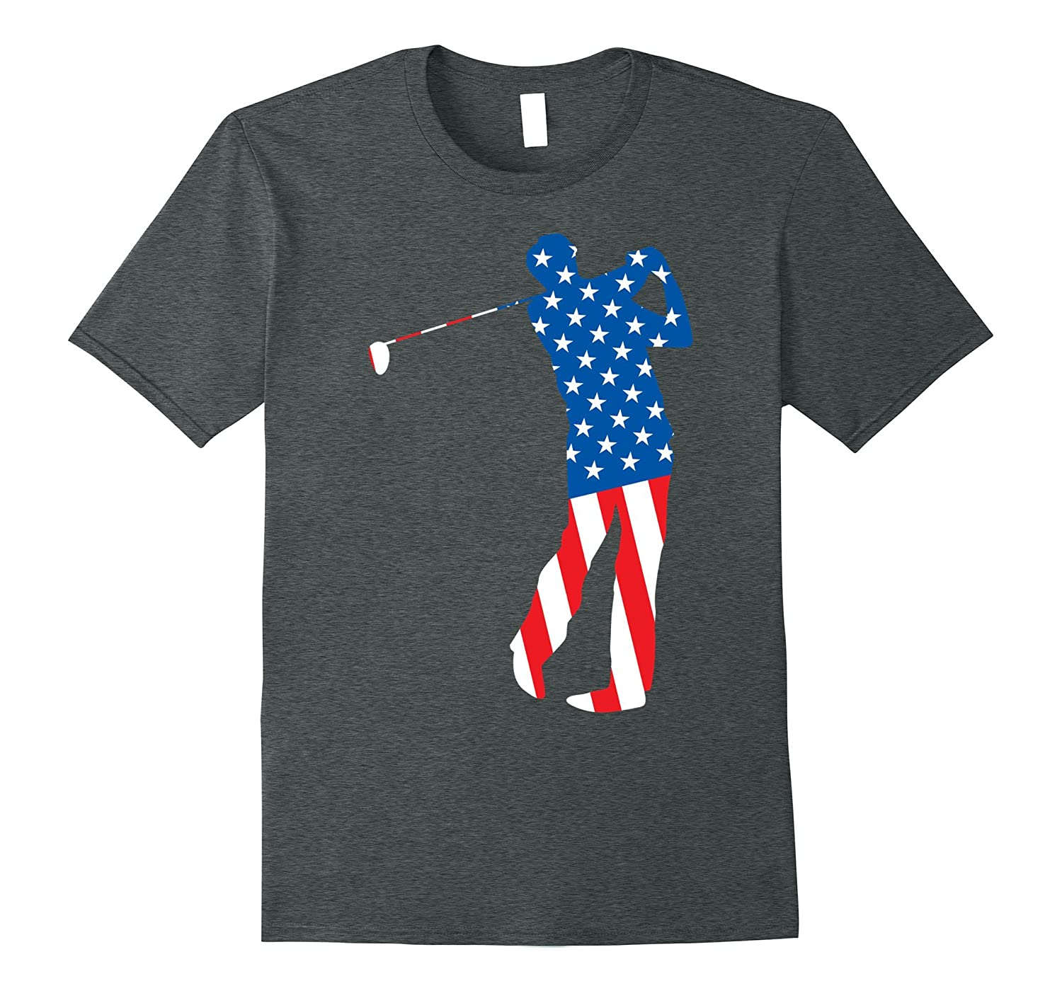 Patriotic Golf Male American Flag Shirt for 4th of July