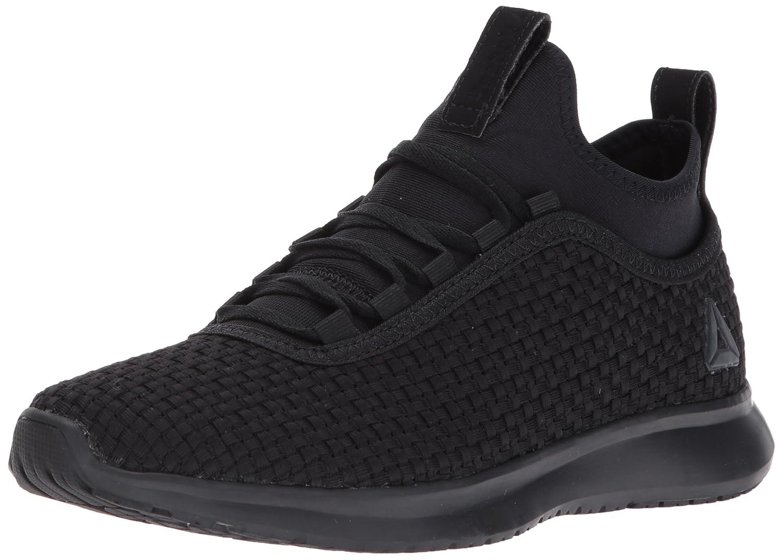 Reebok Women's Plus Runner Woven Sneaker B01N7OW8TT 7 B(M) US|Black/Matte Silver