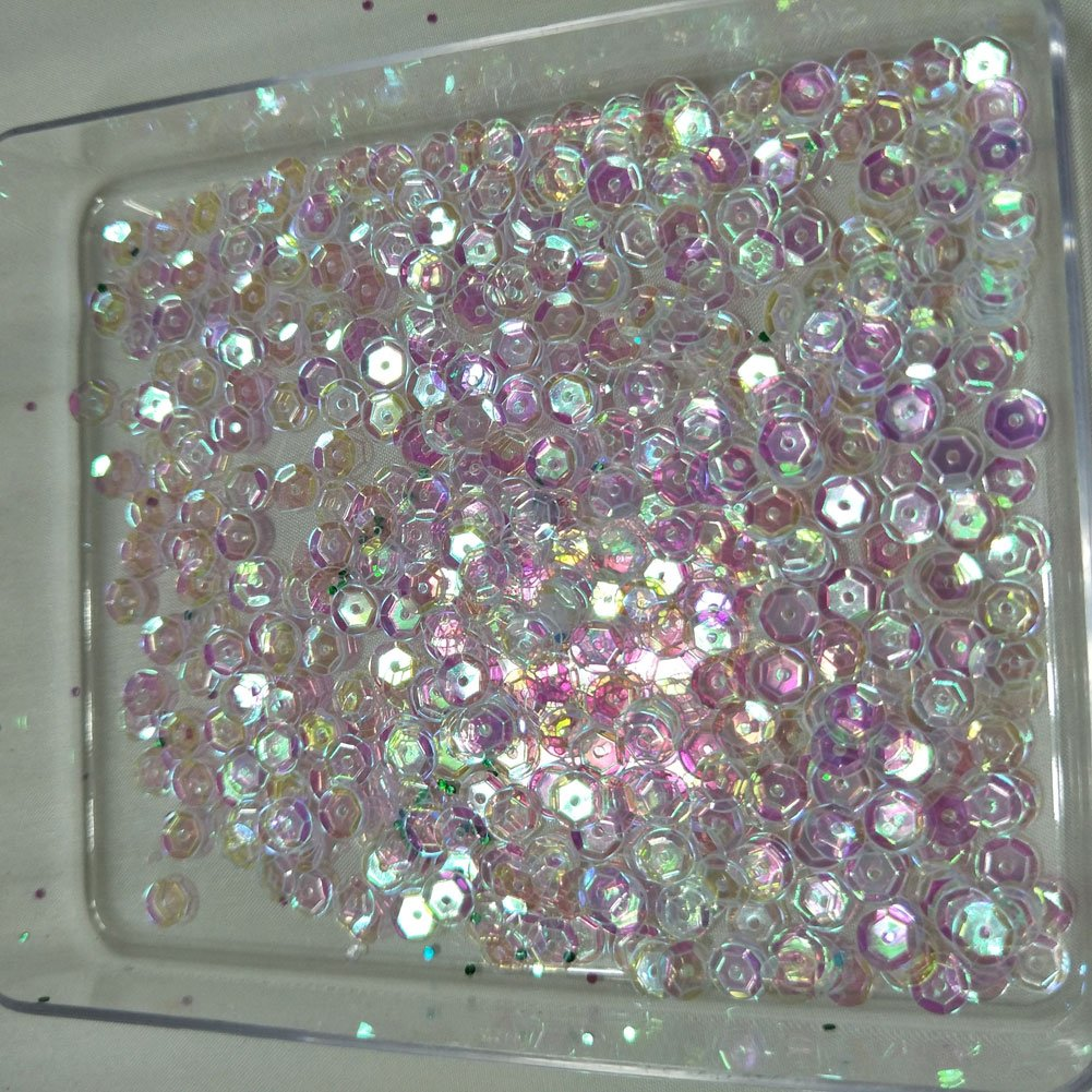 Sparkling 6mm Loose Cup Sequins Paillette Glittering