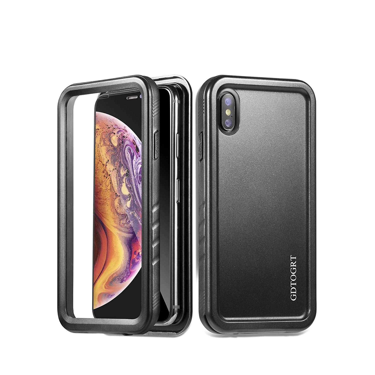 wholesale dealer 119cc c4c4c GDTOGRT iPhone Xs Max Case 360 Full Body Shockproof Heavey Duty Drop  Protection Hybrid Case Cover with Built-in Screen Protector for Apple  iPhone Xs ...