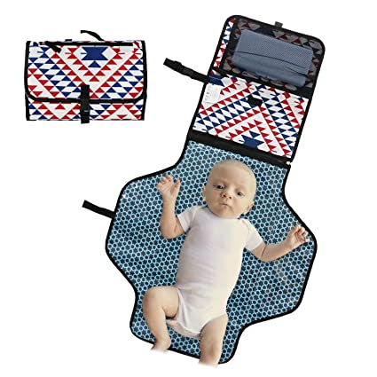 Cambiador Bebé Portátil,Hommays Colchón Plegable de Viaje de Pañales para Bebé Toallitas Impermeables Cambio