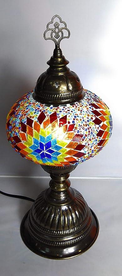 lampara turca sobre mesa 40 cm de altura x 18 cm de diámetro ...