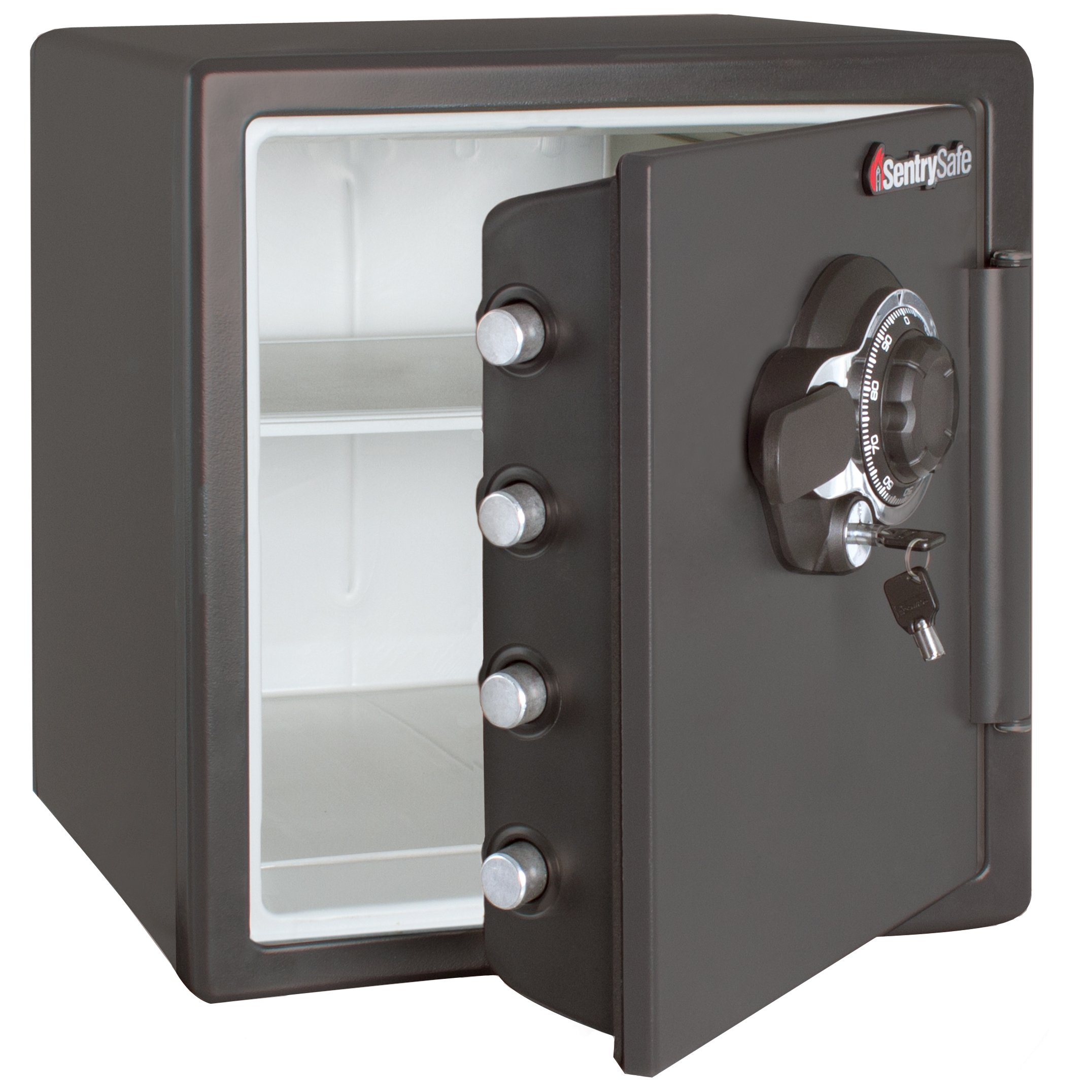SentrySafe Fire and Water Safe, Extra Large Combination Safe with Dual Key Lock, 1.23 Cubic Feet, SFW123DSB by SentrySafe