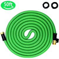 Ohala 50-Feet Expandable Heavy Duty Garden Water Hose with 3/4