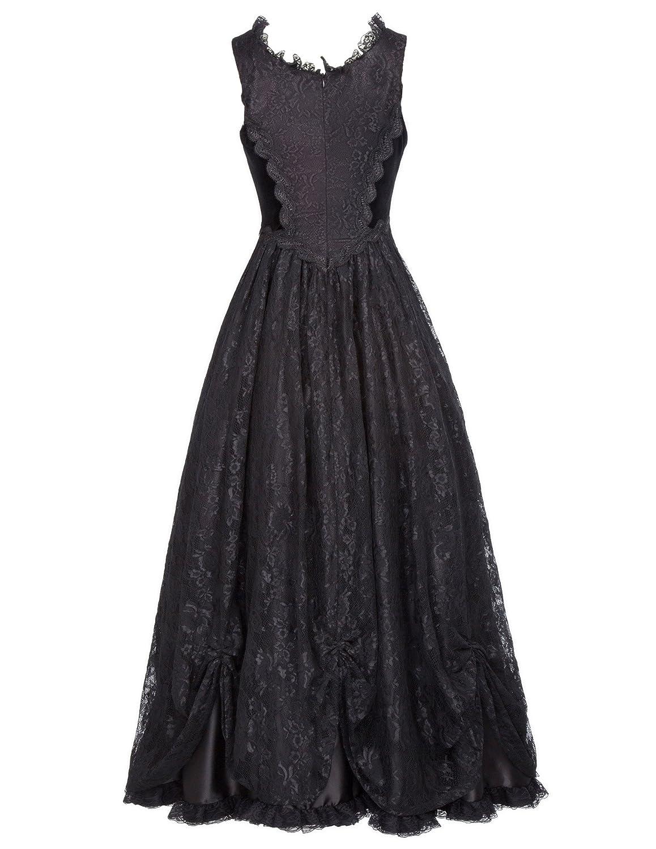 Belle Poque Steampunk Gothic Victorian Long Dresses High Waist Women ...