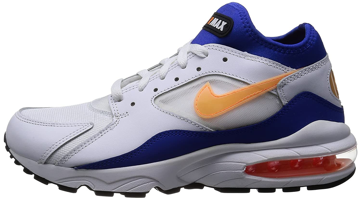 eyjte Nike AIR MAX 93 White Blue Leather Men Sneakers Shoes: Amazon.co