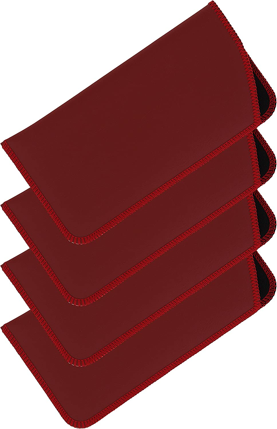 4 Pack Faux Leather...