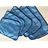 5-pack Wet Microfiber Mopping Cloths Washable&Reusable Mop Pads Fits iRobot Braava 380 380t 320 321 Mint 4200 4205 5200 5200C Robot