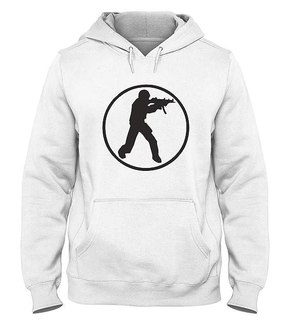 Sudadera con Capucha para Hombre Blanca FUN1044 Counter Strike Gamer 93567: Amazon.es: Ropa y accesorios