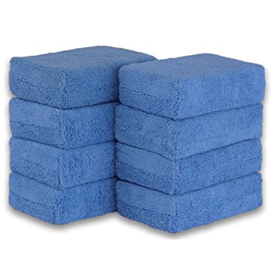 Simple Houseware 8 Pack - Microfiber Ultra-Soft Applicator Foam, Blue: Automotive