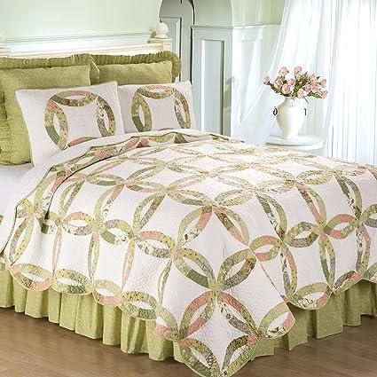 a77f067eca7 Amazon.com  C F Home Annie s Wedding Ring Full Queen 3 Piece Quilt ...