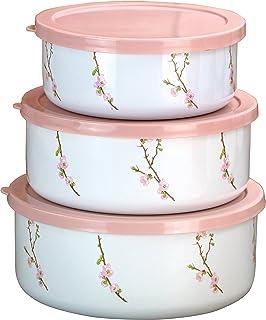 Corelle Coordinates by Reston Lloyd 6-Piece Enamel on Steel Bowl/Storage Set  sc 1 st  Amazon.com & Amazon.com | Corelle Cherry Blossom Square Dinnerware Set (Serves 4 ...