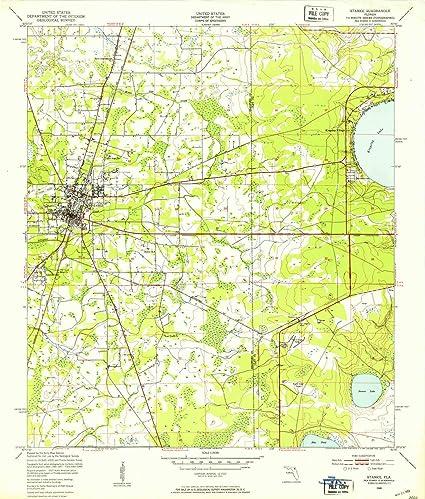 Amazon Com Yellowmaps Starke Fl Topo Map 1 24000 Scale 7 5 X 7 5