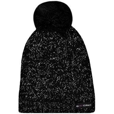 Proclimate Ladies Lurex Waterproof and Breathable Thinsulate Beanie Hat -  Black d166b196929