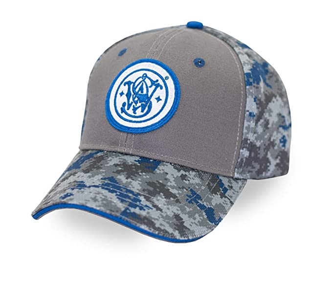 f2a73ecb Smith & Wesson S&W Gray & Blue Digi Camo Logo Cap - Officially Licensed at Amazon  Men's Clothing store: