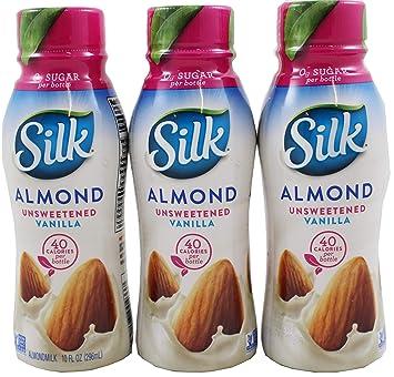 Silk Vanila - Leche de almendra sin edulcorar, 3 unidades ...