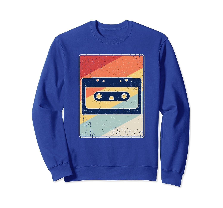 Retro Cassette Sweatshirt - Vintage Tape Distressed Gift-mt