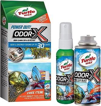 Turtle Wax 50768 Power Out Odor-X Whole Car Blast Caribbean Crush