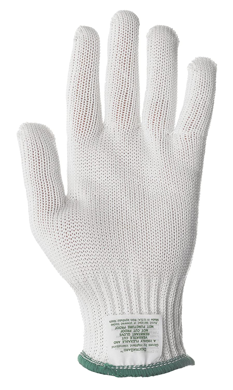 Lakeland 9200 DextraGard Spectra Lightweight Knit Glove with MicroGard White Lakeland Industries Inc 9200M 13 Gauge Thickness Medium Cut Resistant